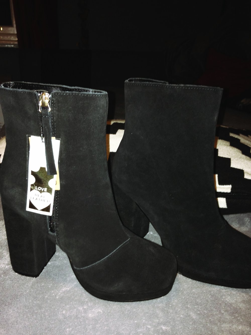 Second purchase, these 100% suede leather 70s style ankle boots from Primarks