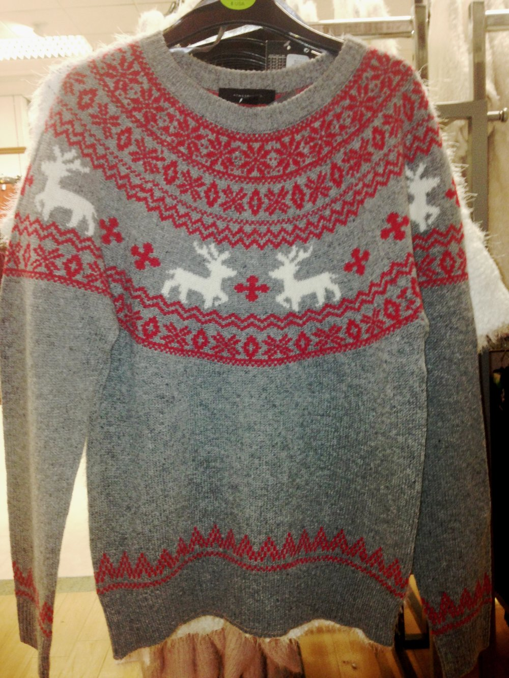 The 3rd style in the 100% wool range from Penneys. €18.00. Love these sweaters. BEST BUY!