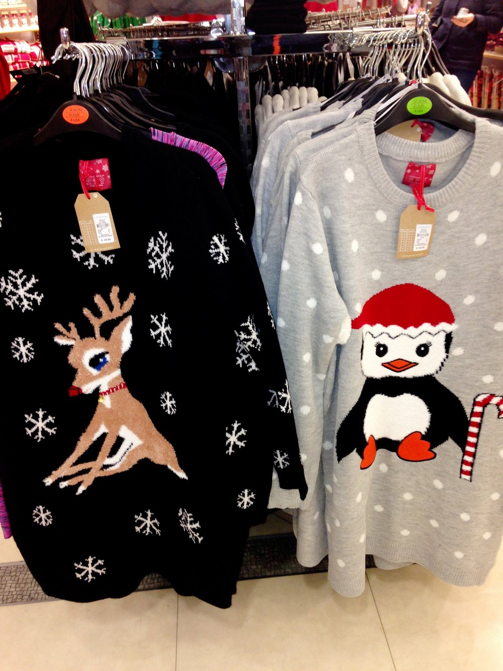 Xmas sweater dress. These are rather cool and look great with skinnies or leggings. €20.00 Penneys