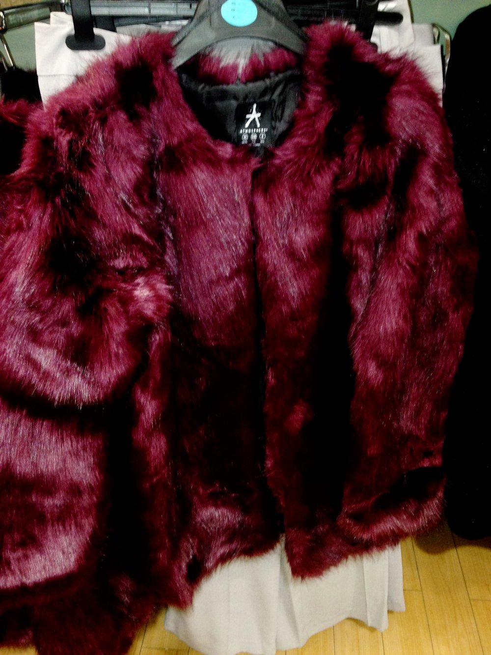 Penneys/Primark faux fur wine fur Jacket. This is lovely and thick .GREAT VALUE €40.00