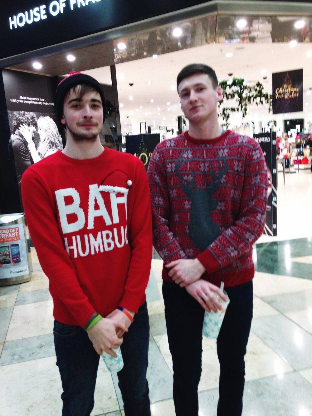 Joe, Penneys/Primark Christmas Jumper . Barry M&S Christmas Jumpers. Looking cool Guys!