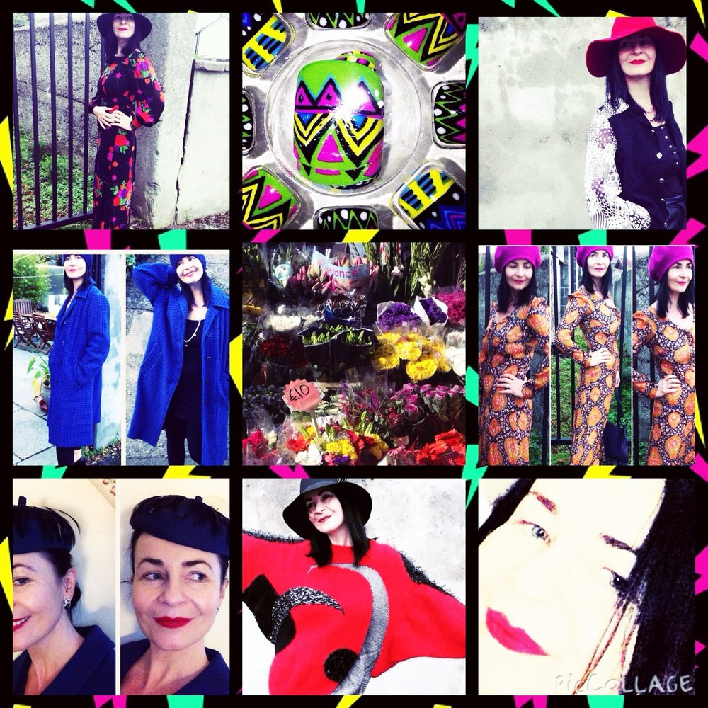 Collective example of photos on my page. All adhering to the vintage/modern fashion theme.