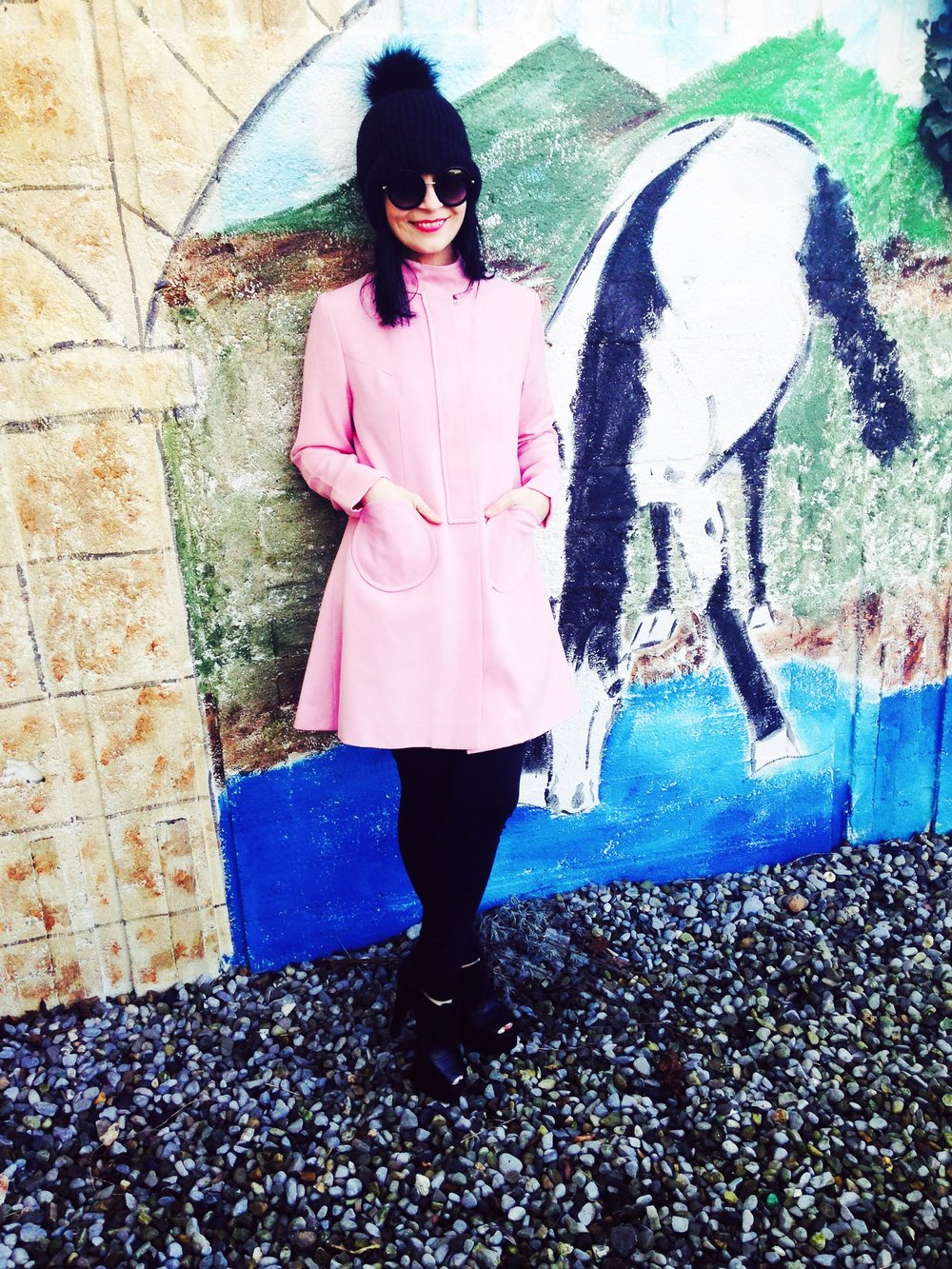 Amazing Cute Vintage Coat with Dainty Heart shape pockets by Jean Small Dublin!