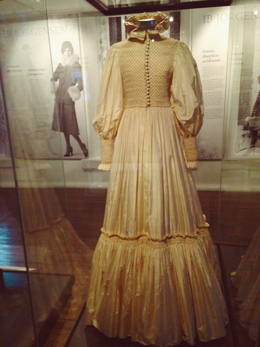 Wedding Dress by Ib Jorgensen at National museum of Ireland!