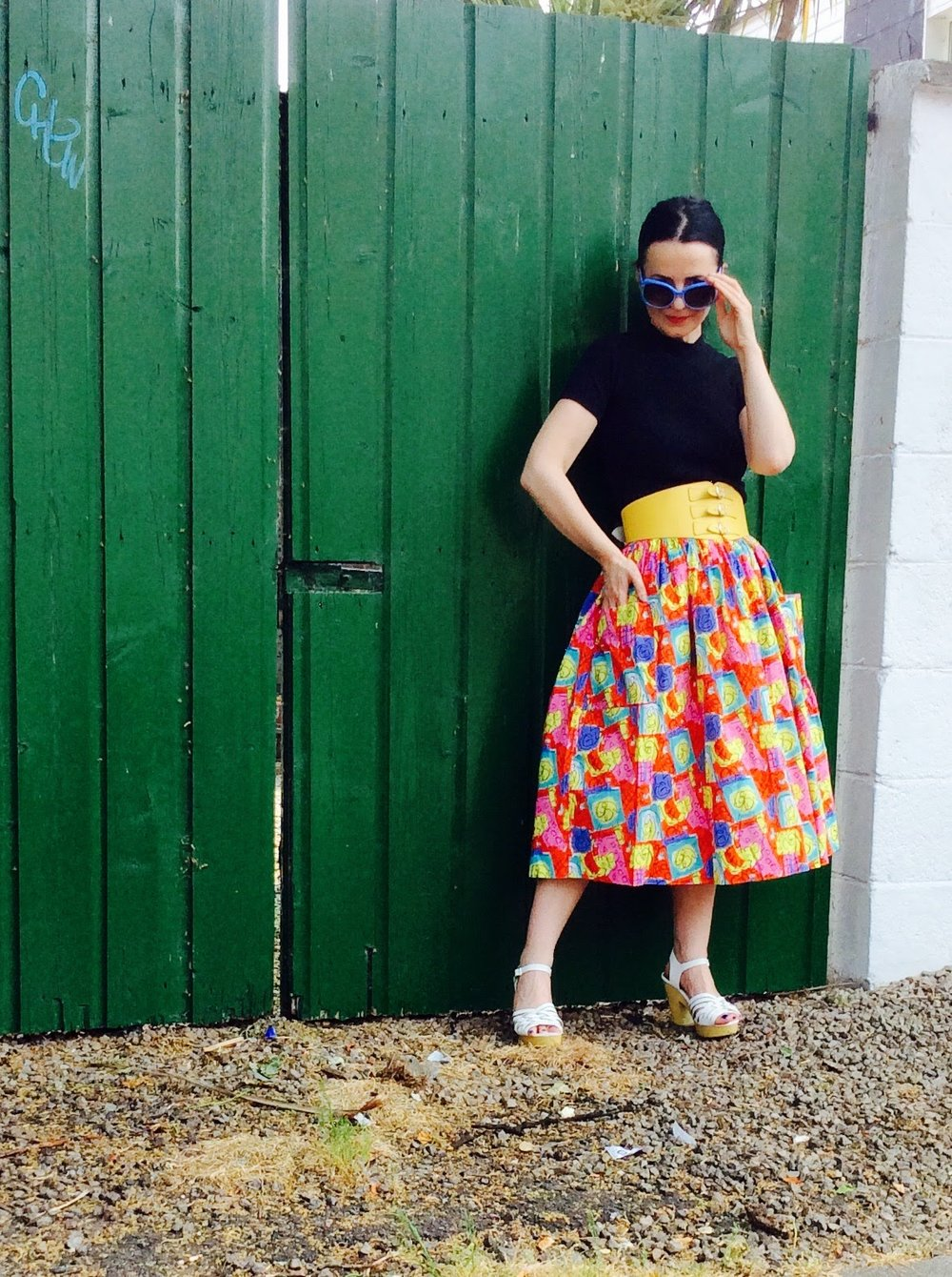 1950's Vintage Full Summer Skirt! Love This!