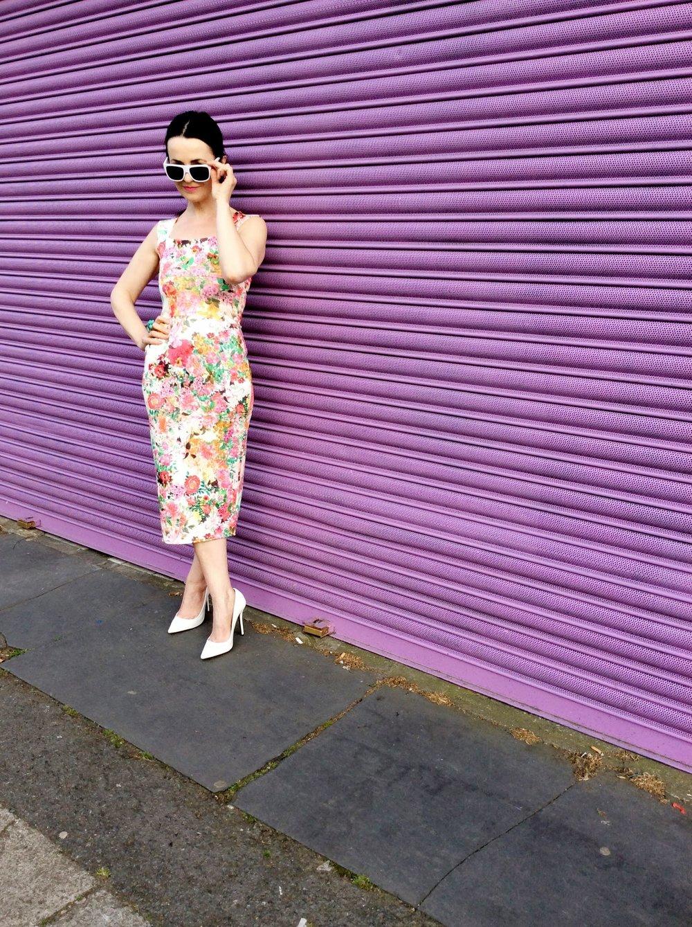 Floral Print Wiggle Dress!