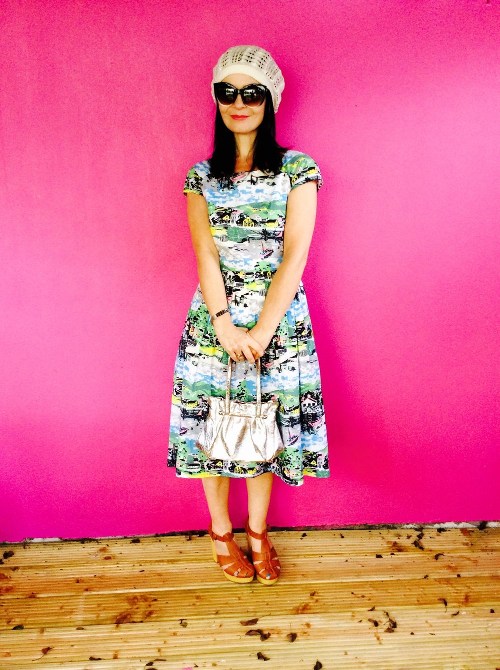 Fab retro print vintage inspired Dress.