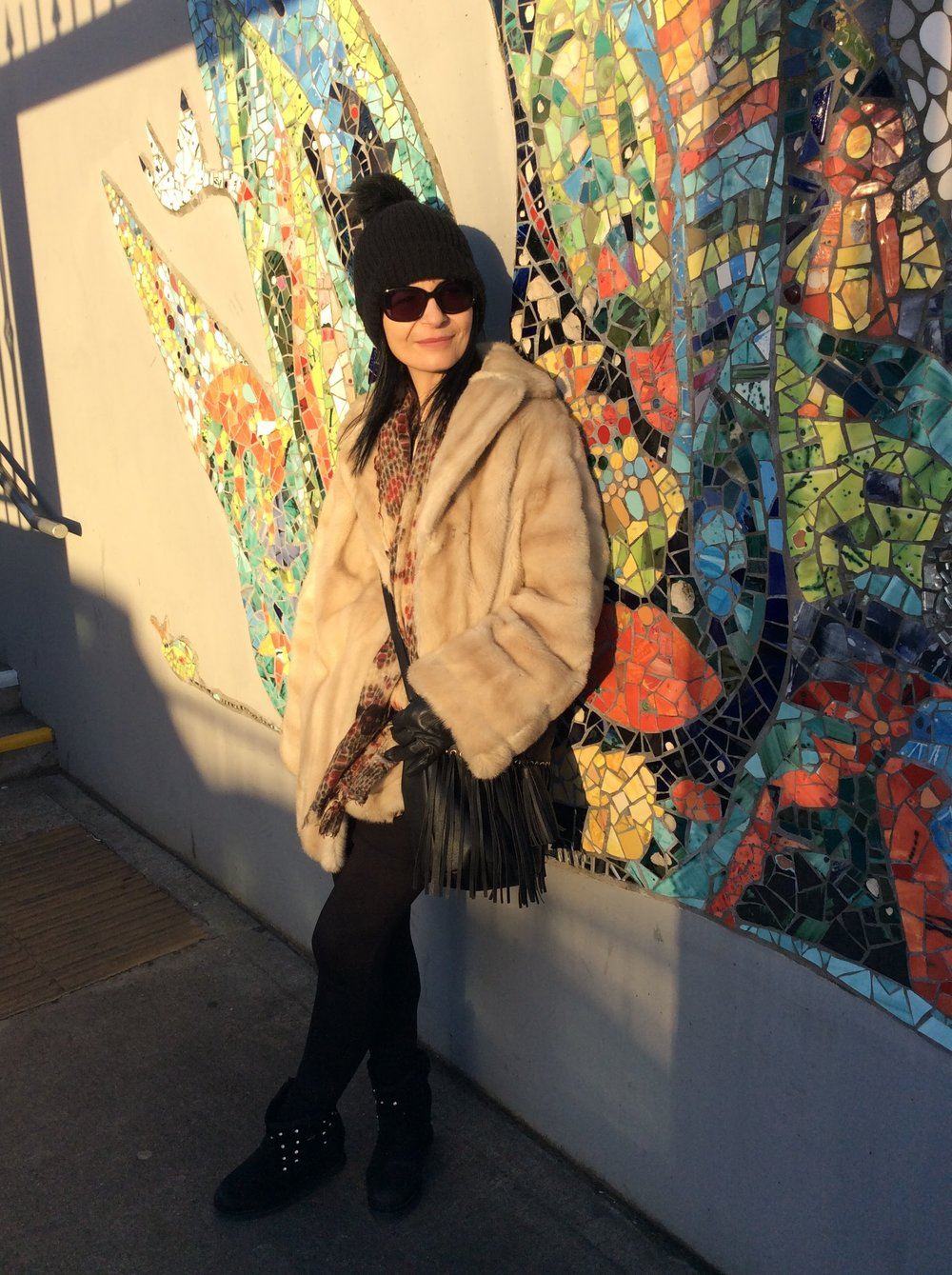 Vintage Faux fur coat recently bought in local charity shop!