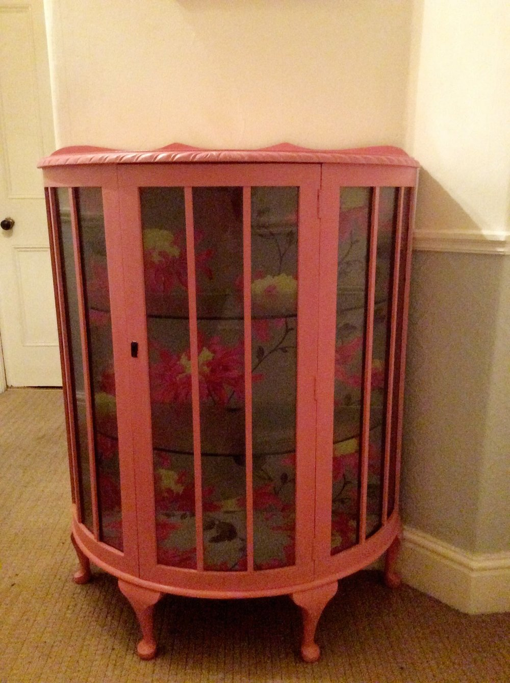 Finished Up-Cycled 1950's Cabinet!