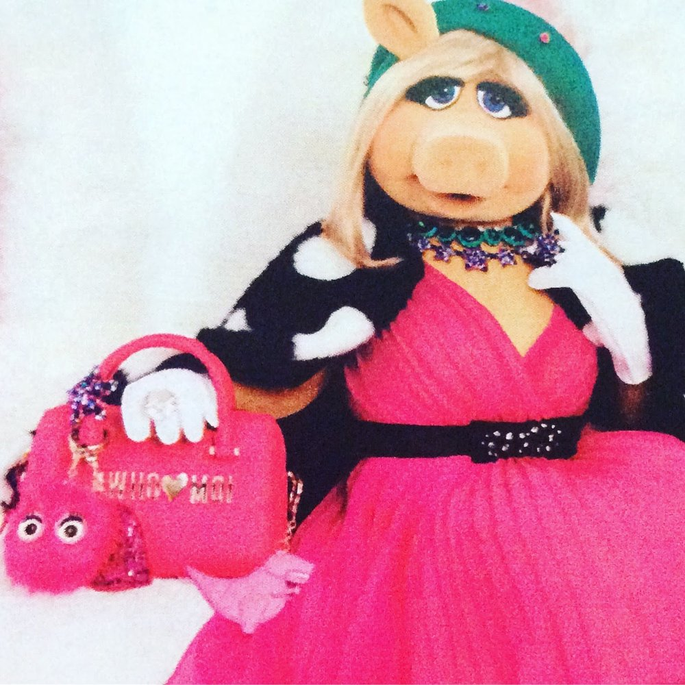 Vintage Style  Miss Piggy!.....................Now there's a pig that spent hours  pursuing love and was happy with her Frog!!!!!! Ha Ha!