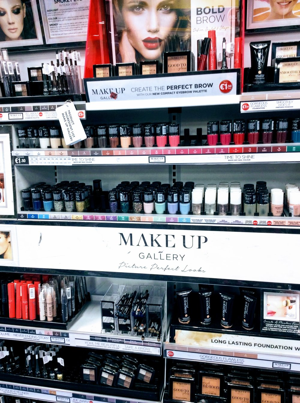 dealz stock very impressive variety of cosmetics including a full range of brow products. All €1.49.