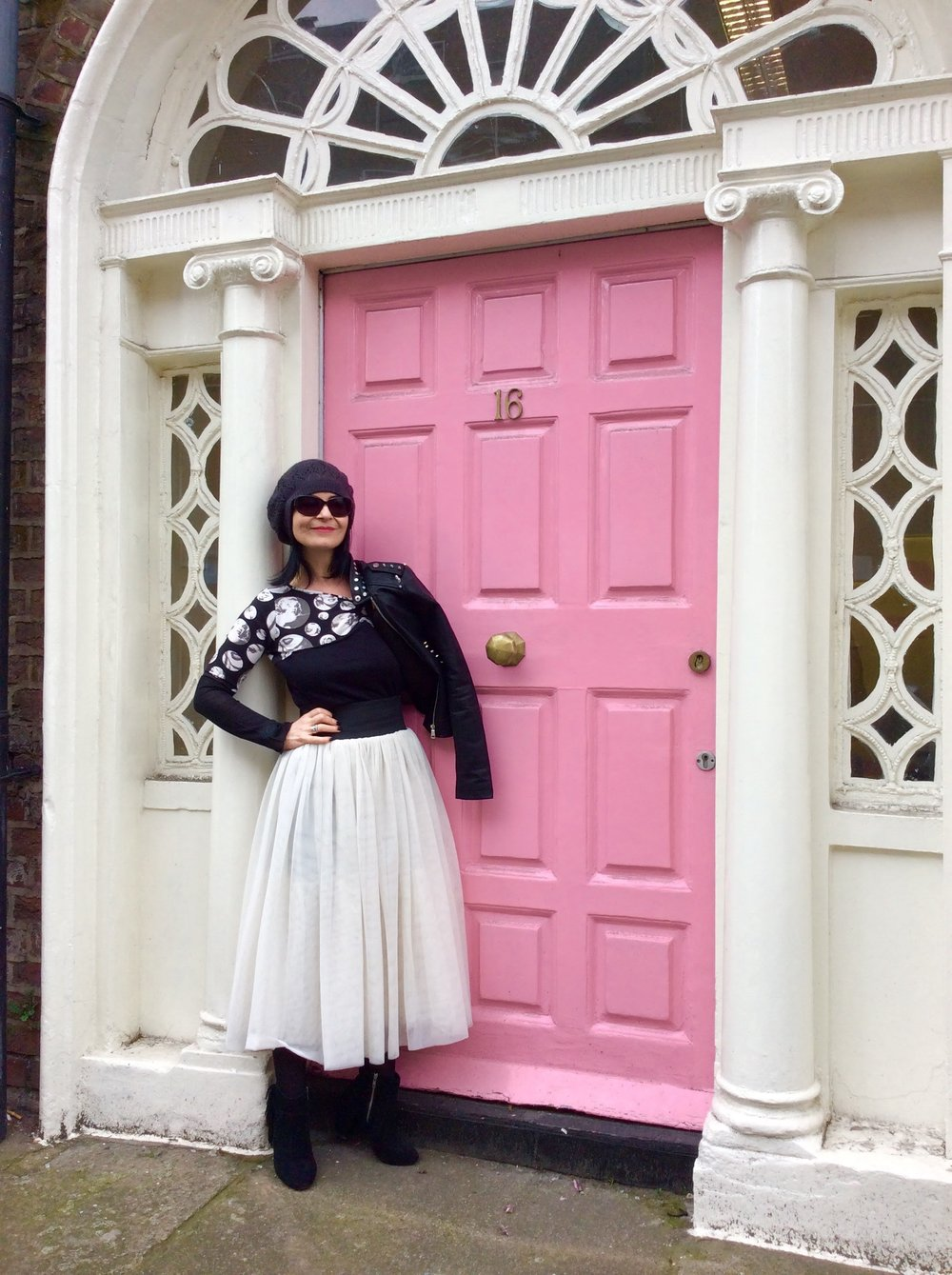 The Biker Jacket purchased in Oxfam (it cost only 5 euro as the zip was broken (which I had fixed) and was brand new!!!!
