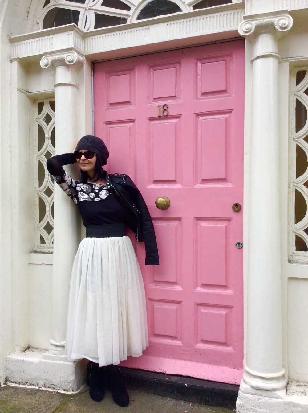 Overall an entire outfit bought in a charity/thrift store. This look won't date so quickly either ...