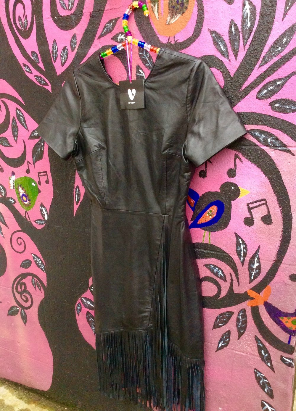 So lovely this butter soft leather dress by VbyVery.