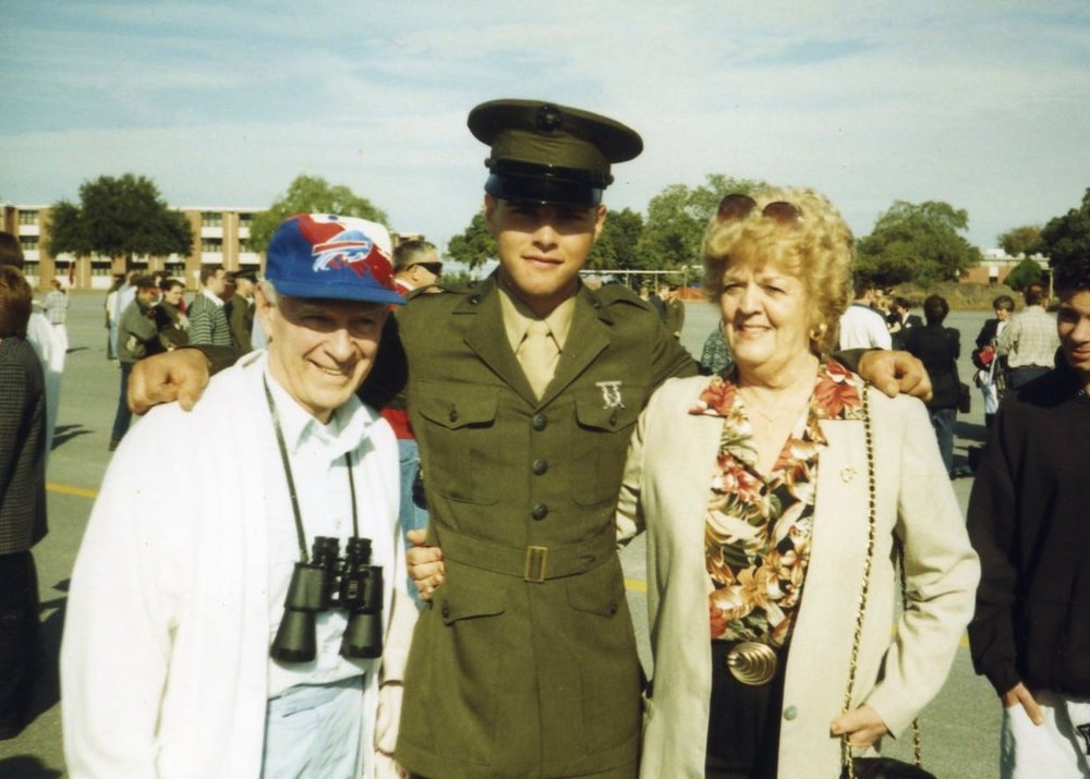 MARINE CORPS GRADUATION DAY W/MY GRANDPARENTS =)  XOXO