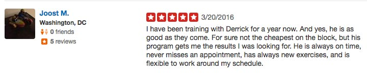 Personal Trainer Review #8