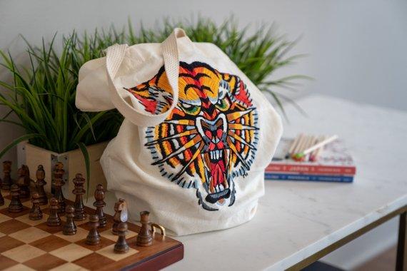 Michelle Hawran Illustration Tiger Tote.jpg