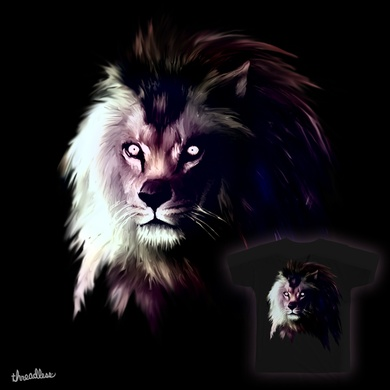 Night Lion Ad Threadless