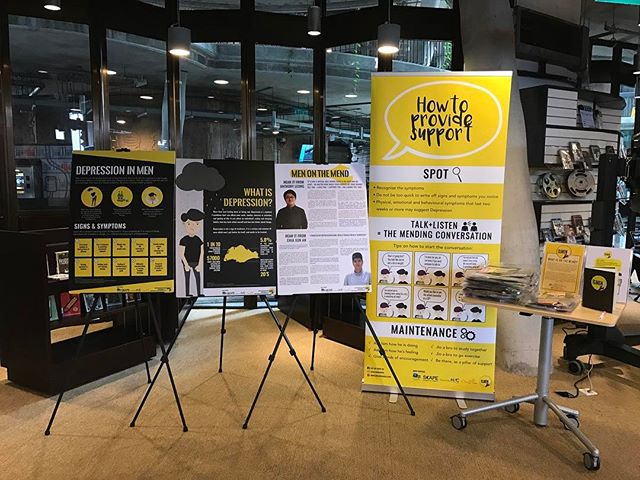 On The Mend is now at The Hive Library in NTU as well! Drop by if you haven't had the chance to pop by our roadshows and leave an encouraging message for men with depression too! Last few mending kits up for grabs there!  #OnTheMendSG