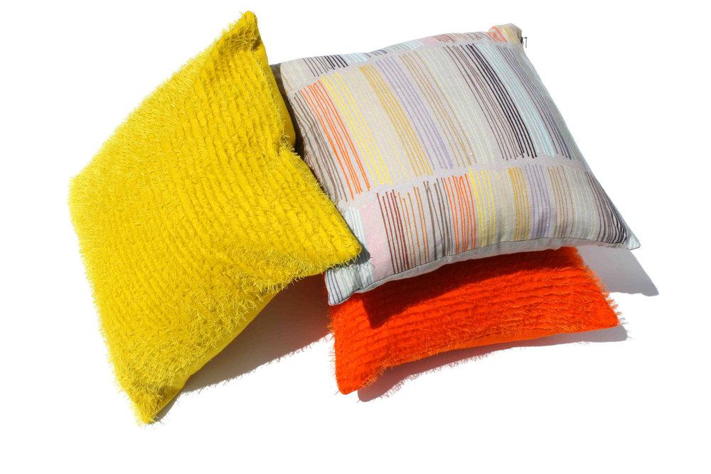 3 Cushions Orange