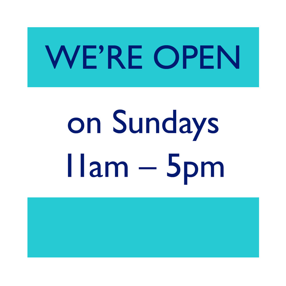 Earth Natural Foods is open from 11AM until 5PM every Sunday.
