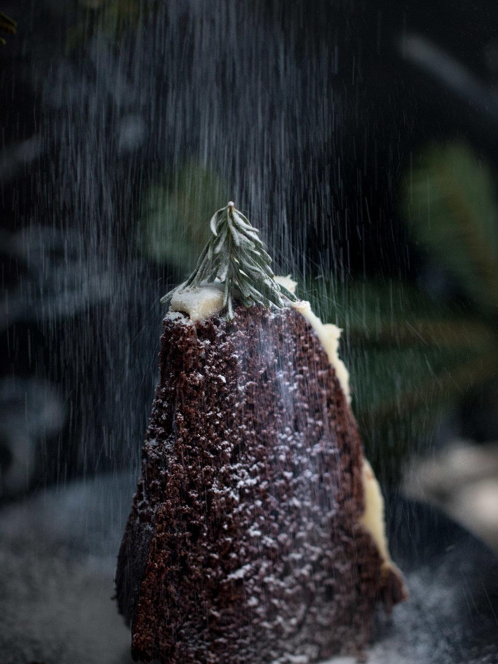 Çocukluk fantezim. Üzerine kar yağan kek dağı:)