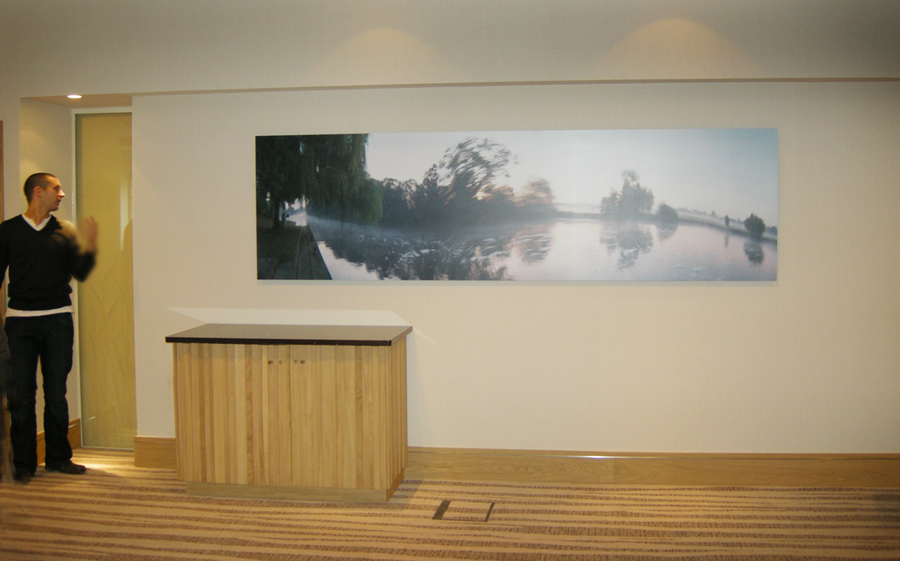 Runnymede Hotel Fine art prints installation