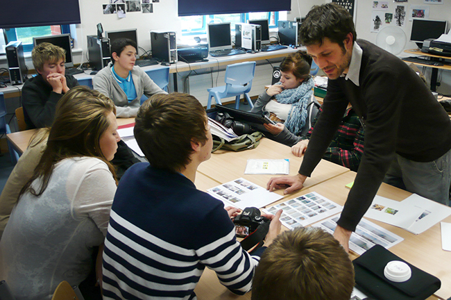 photography workshop and talk with sixth form students