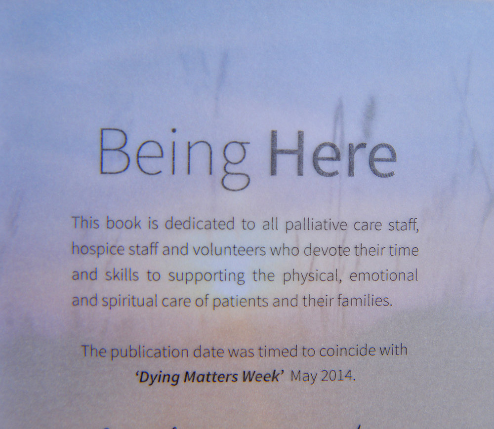 From the book 'Being Here' created in collaboration with St Giles Hospice