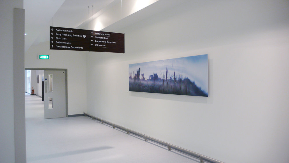 Work installed in the Womens' Centre at Gloucester Royal Hospital