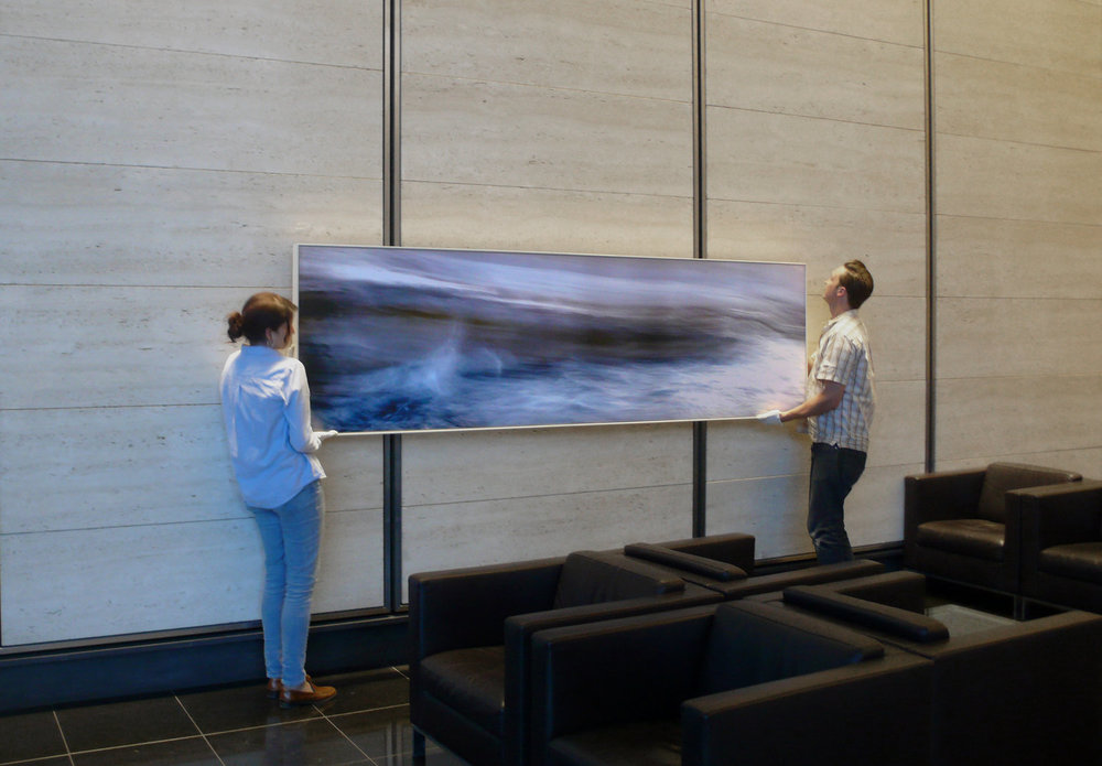 Example of large mounted and framed piece - 280 cm x 80 cm