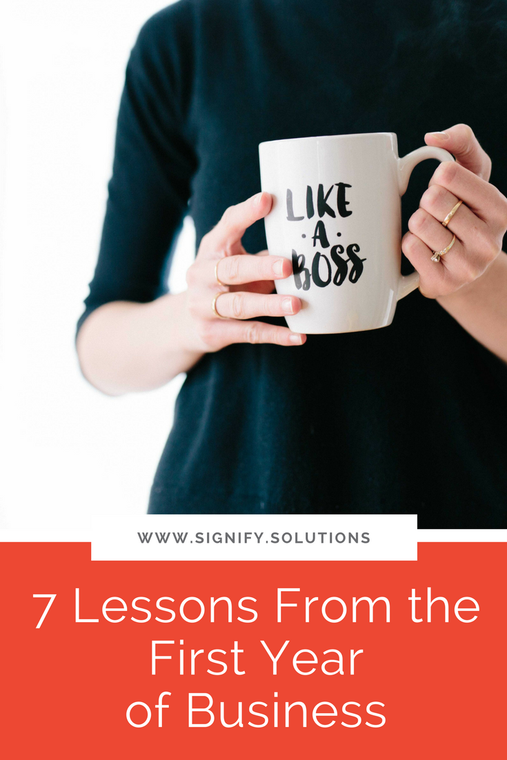 Here are seven lessons that I've learned, and I think you might find them helpful as well, whether you're just starting your organization or need some additional perspective as a seasoned business owner.