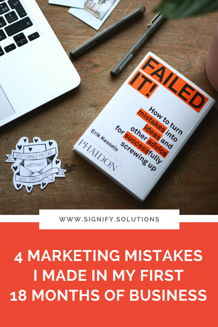 As I'm reaching the end of my first full year with Signify, I wanted to share some of the marketing mistakes I've made and lessons I've learned so that, no matter what stage your nonprofit or social enterprise is in, you can learn from them. The vast majority of my clients have very little training in marketing, so these are the things I'd want to share with them if we were sitting down over coffee.