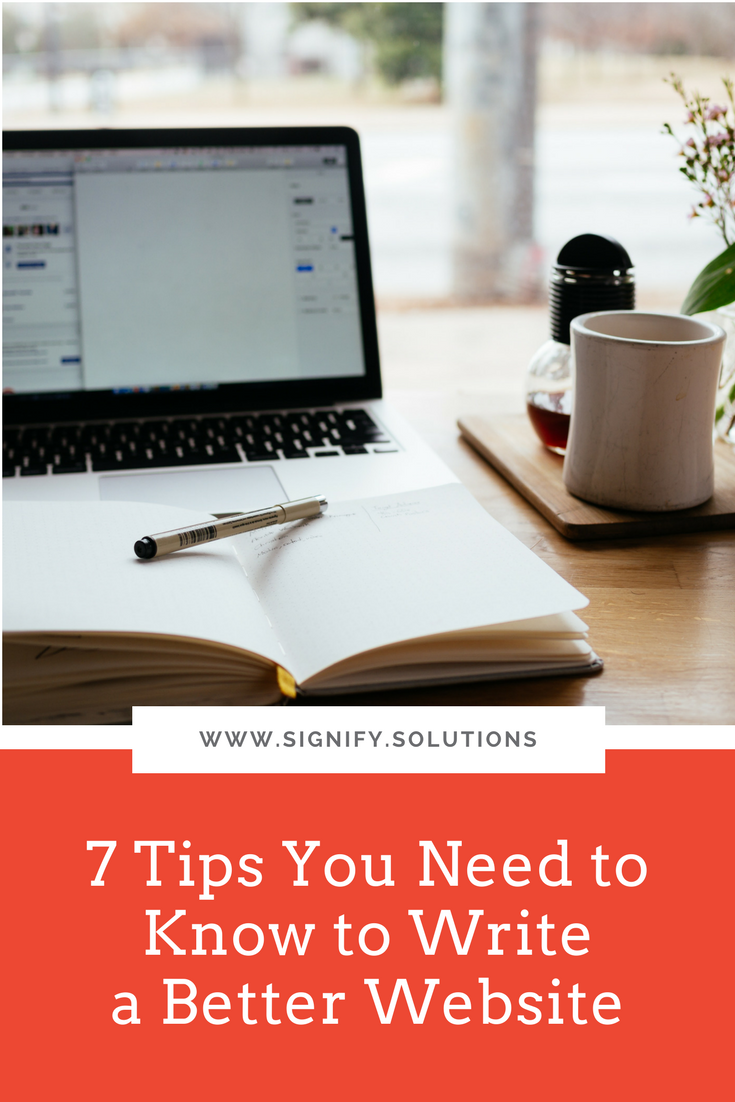 7 Tips You Need to Know to Write a Better Website
