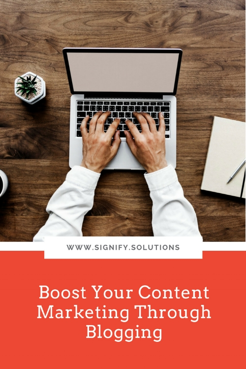 Boost Your Content Marketing Through Blogging