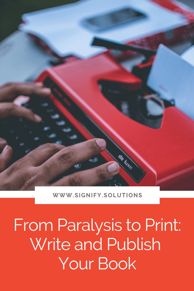 The process of moving beyond fear-induced paralysis at the thought of writing a book to actually holding your final printed copy in your hand isn't an easy one. So to help you move from paralysis to print in your writing, here are my answers to five of my most frequently asked questions about writing a book.