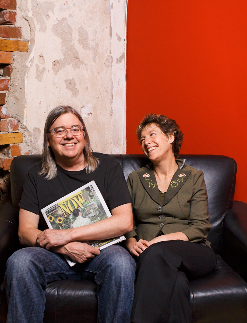 Michael Hollett and Alice Klein.  Founders, NOW Magazine