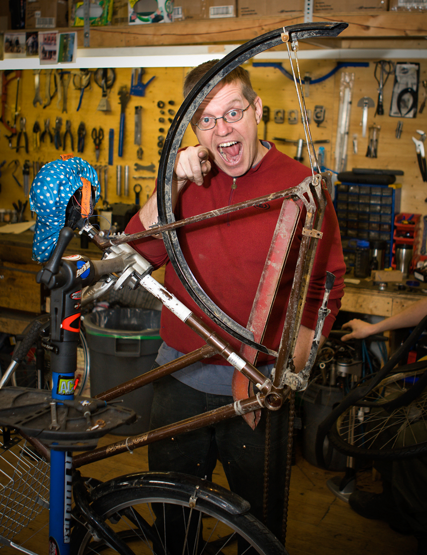 Derek Chadbourne.  Owner, The Bike Joint