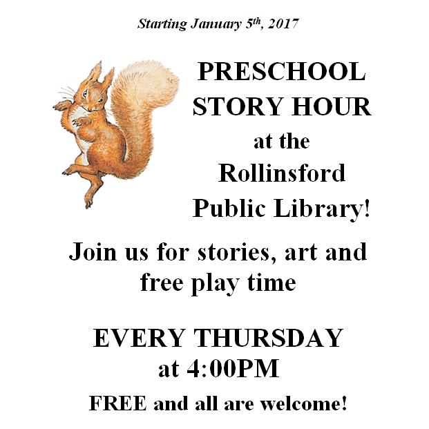 Preschool Story Hour — Rollinsford Public Library