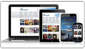 You can borrow e-books and audiobooks any time with RPL's  OverDrive  account! Learn more on our  eLibrary page .