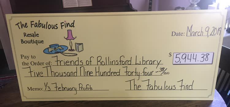 A  HUGE  thank you to  the Fabulous Find  for all you do for the community!