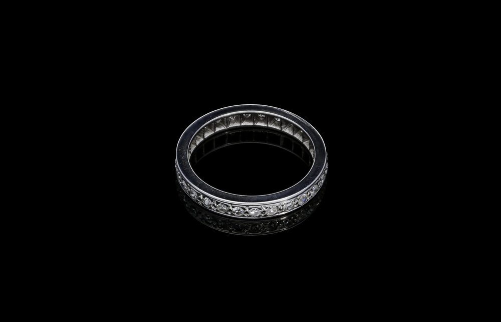 A 1950's French eight-cut diamond eternity ring set | £2200