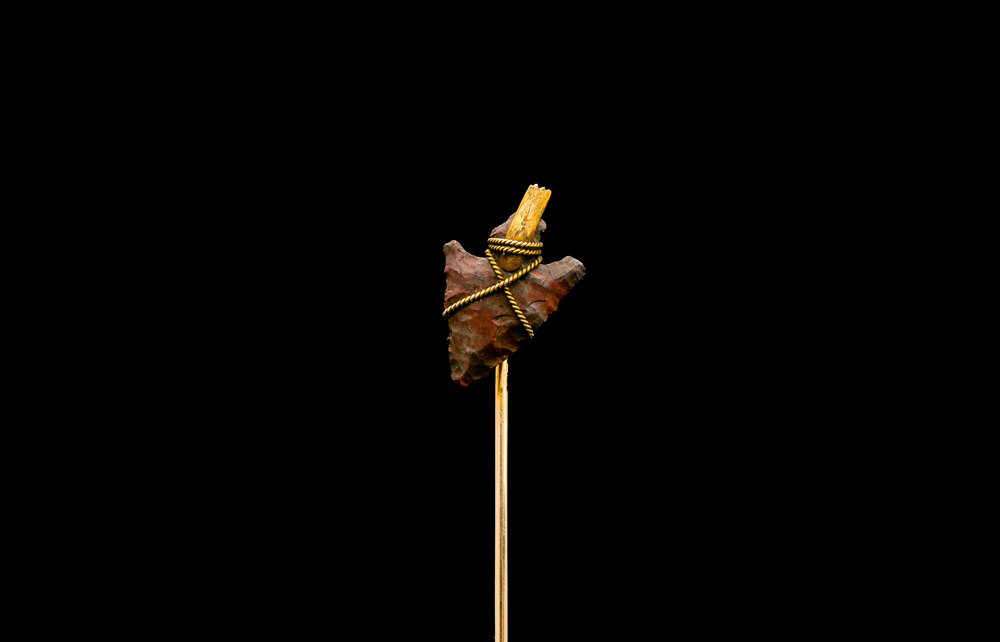 A Shreve & Co chert arrowhead tie pin | £2150