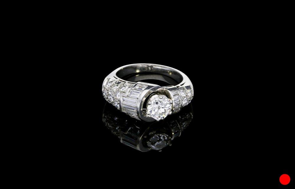 A sensational Art Deco diamond ring   £8750