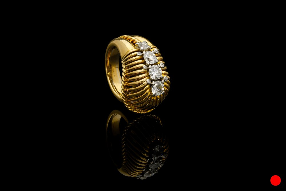 A 1950's modernist diamond ring   £5950