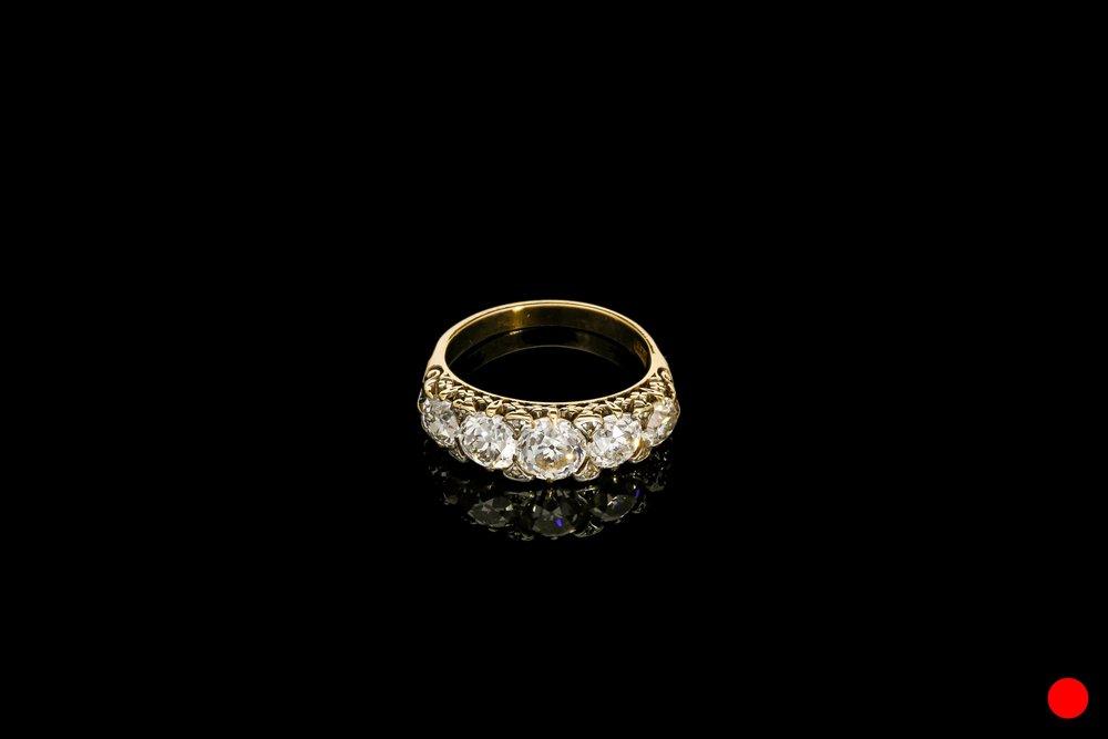A Victorian diamond ring set   £9850
