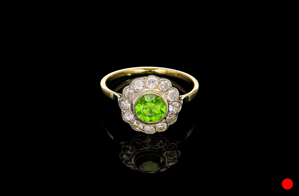An Edwardian ring on 18ct yellow gold   £9950