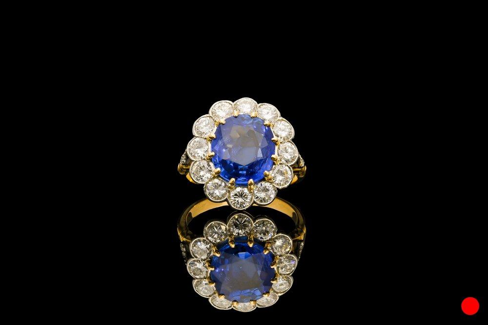 A Ceylon sapphire and diamond ring   £29850