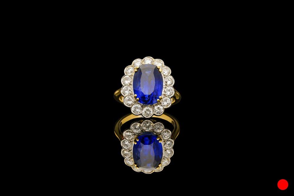 A Burmese sapphire and diamond ring   £47500