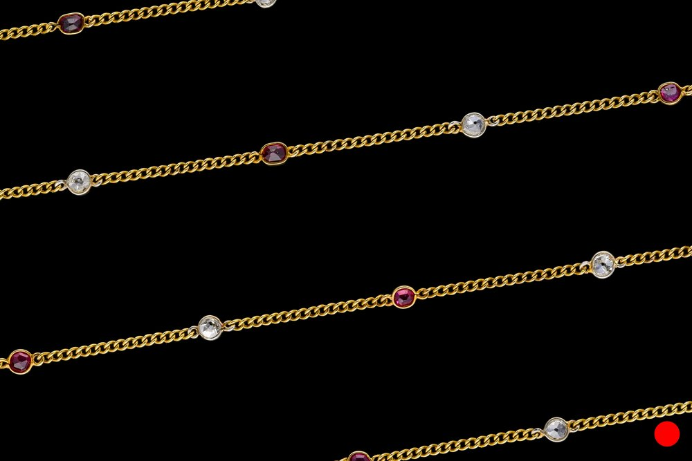 A late Victorian 15ct yellow gold guard chain set | £3810